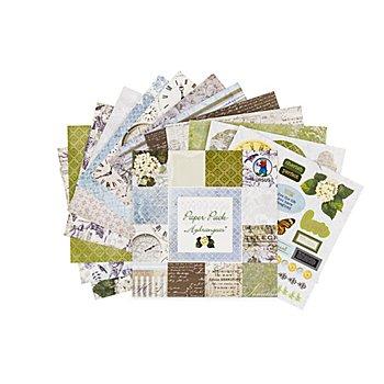 Ursus Bloc de papier 'hortensias', 15,3 x 15,3 cm, 24 feuilles