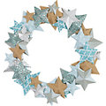 Folia Sternenkranz-Bastelset, blau-braun