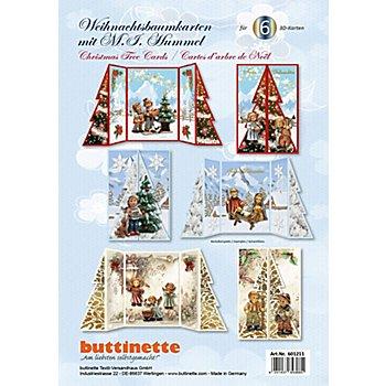3D-Bastelmappe 'Weihnachtsbaumkarten'