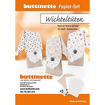 Papier-Set 'Wichteltüten', 6 Stück