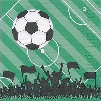 Papierservietten 'Fußball', 33 x 33 cm, 20 Stück