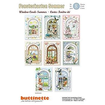 3D-Bastelmappe 'Sommerliche Fensterkarten', für 8 Karten