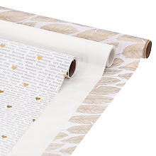 Geschenkpapier-Set 'Feder/Schrift'