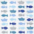 """Papierservietten """"Fische/Boote"""", 33 x 33 cm, 20 Stück"""