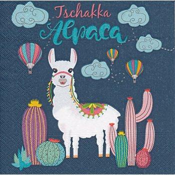 Papierservietten 'Taschakka Alpaca', 33 x 33 cm, 20 Stück