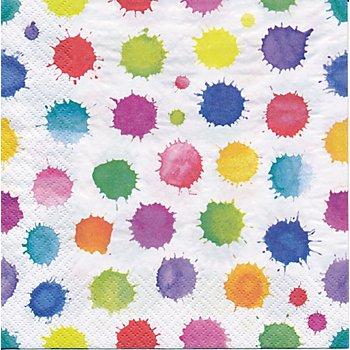Papierservietten 'Kleckse', 33 x 33 cm, 20 Stück