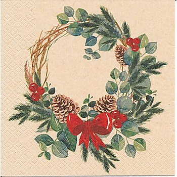 Serviettes en papier 'couronne', 33 x 33 cm, 20 pièces