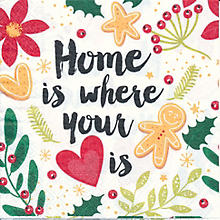 Papierservietten 'Home is where your heart is', 33 x 33 cm, 20 Stück