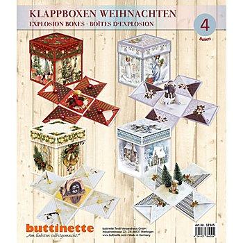 Explosionsbox-Bastelset 'Weihnachten', 11 x 11 x 11 cm