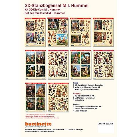 """Image of 3D-Stanzbogen-Set """"Hummel"""", 10 Stück"""