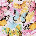 "Diamantenstickerei-Set ""Gemusterte Schmetterlinge"", 25 x 25 cm"