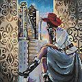 "Diamantenstickerei-Set ""Blick auf Dallas"", 38 x 38 cm"