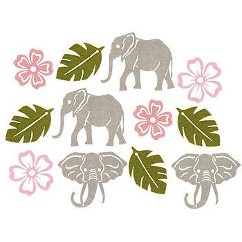 Filz-Streuteile 'Elefant', 4,2–7,3 cm, 12 Stück