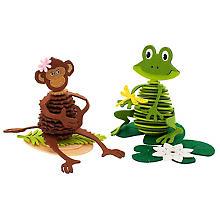 Filz-Bastelset 'Affe & Frosch'