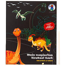 Ursus Livret magique avec 12 motifs à gratter 'dinosaures et dragons'