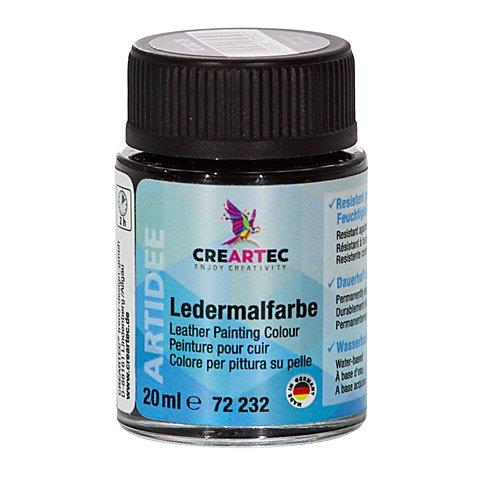 Image of Ledermalfarbe, schwarz, 20 ml