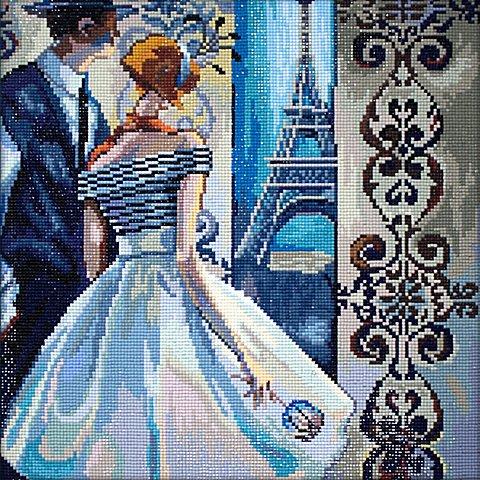 """Image of Diamantenstickerei-Set """"Blick auf Paris"""", 38 x 38 cm"""