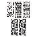 """Autocollants """"Lettres et chiffres"""" , noir, 23 x 10 cm, 5 feuilles"""