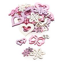 Streuteile 'Frühling', rosa/lila/weiß, 36 Stück