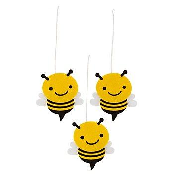 Filz-Hänger 'Biene', 3 Stück