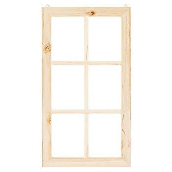 Dekofenster aus Holz, 45 x 25 cm