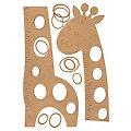 "MDF Messlatte ""Giraffe"", 114 cm"