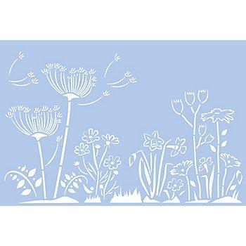 buttinette Schablone 'Wiesenblumen', 29,5 x 20 cm