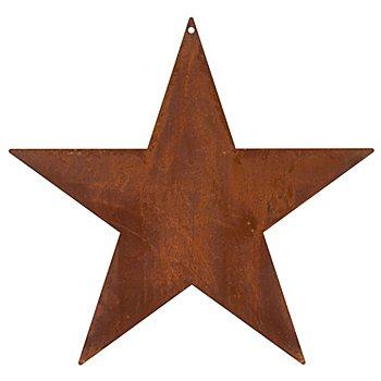 Rost-Stern aus Metall, rostbraun, 30 cm Ø