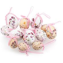 Eier 'Wiesenblumen', 3–6 cm, 12 Stück
