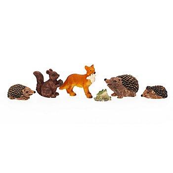 Tier-Familie, 1–4 cm, 6-teilig