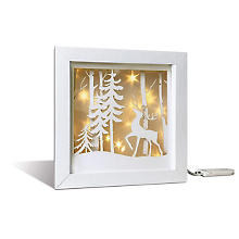 Ursus Bastelset Shadow Box 'Winterwald', 19 x 19 x 4 cm
