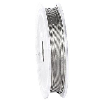 Fil câblé pour bijoux, argenté, 10 m