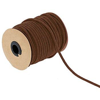 Cordon tricoté, en papier, marron, 4 mm, 30 m