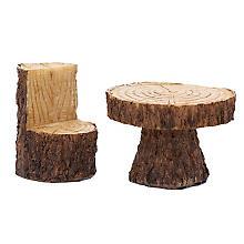 Tisch mit Stuhl in Holzoptik, 3,5 - 5,5 cm