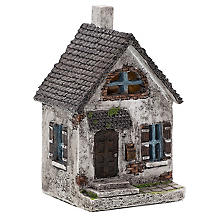 Haus aus Polyresin, 8 x 7,5 x 14 cm
