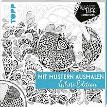 Buch 'Mit Mustern Ausmalen - White Edition'