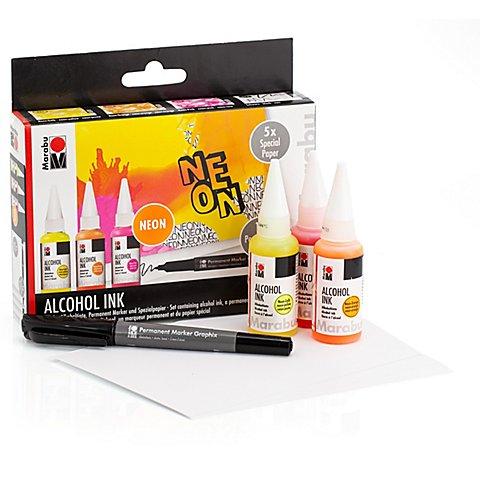 """Image of Marabu Alcohol Ink Set """"Neon"""""""