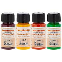buttinette Seidenmalfarben 'Frühling', 4x 50ml