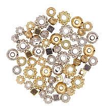 Zwischenteile, silber und gold, 60 Stück