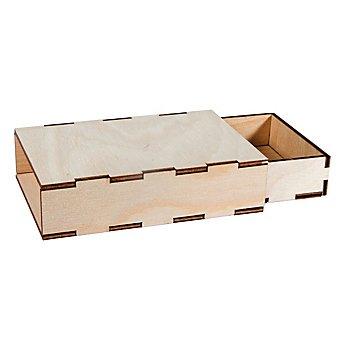 Holzbox zum Aufbauen, natur, 2 Stück