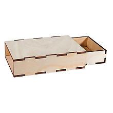 Boites en bois brut, à monter, 2 pièces