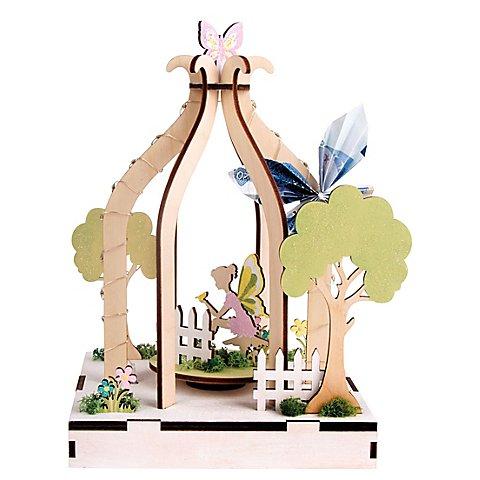 """Image of 3D-Holzbausatz """"Wunschgarten"""" mit Drehteller"""