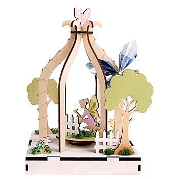 Kit créatif en bois 'jardin magique' avec plateau tournant