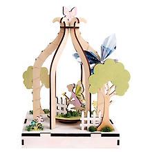 3D-Holzbausatz 'Wunschgarten' mit Drehteller
