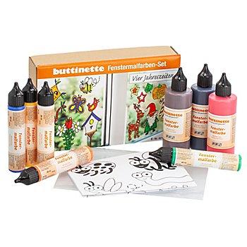 buttinette Fenstermalfarben-Set 'Vier Jahreszeiten'