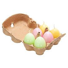 Eierkerzen 'Frühjahr', 6 Stück