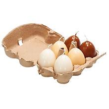 Eierkerzen 'Natur', 6 Stück