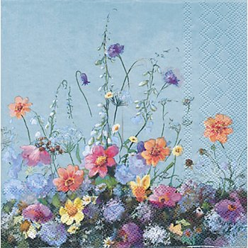 Papierserviette 'Blumenwiese', 33 x 33 cm, 20 Stück