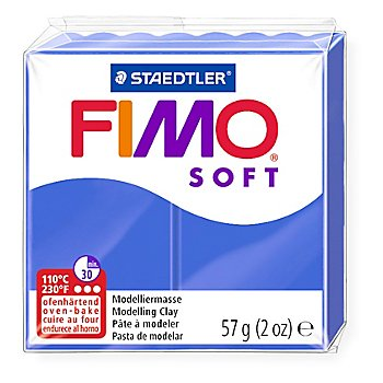 Fimo-soft, brillantblau, 57 g