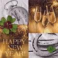 """Serviettes en papier """"Happy New Year"""", 33 x 33 cm, 20 pièces"""